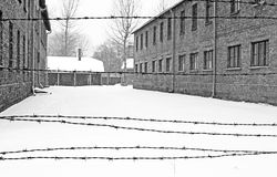 Campo di concentramento di Auschwitz II Birkenau Fotografie Stock Libere da Diritti