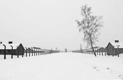 Campo di concentramento di Auschwitz II Birkenau Fotografia Stock Libera da Diritti