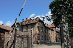Campo di concentramento di Auschwitz in Polonia Fotografie Stock Libere da Diritti