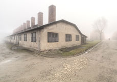 Campo di concentramento nazista Auschwitz I Fotografia Stock