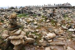 Campo di desiderio delle pietre fotografia stock