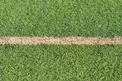 Campo di erba sintetico fotografia stock