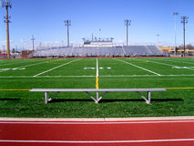 Campo di football americano 2 Immagini Stock Libere da Diritti