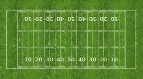 Campo di football americano Immagini Stock