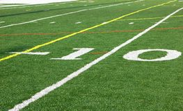 Campo di football americano Immagine Stock