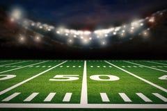 Campo di football americano illustrazione vettoriale