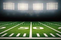 Campo di football americano royalty illustrazione gratis