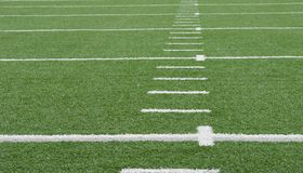 Campo di football americano fotografia stock