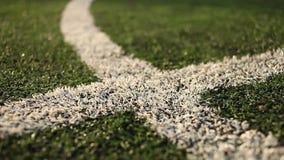 Campo di football americano con le marcature archivi video