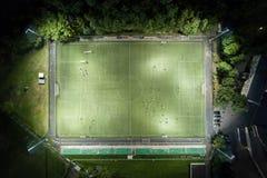 Campo di football americano da altezza Immagine Stock
