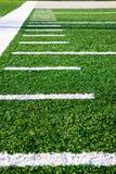 Campo di football americano dei contrassegni fotografia stock libera da diritti