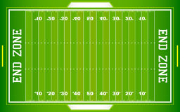 Campo di football americano del NFL illustrazione di stock