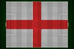 Campo di football americano della bandiera dell'Inghilterra Immagini Stock