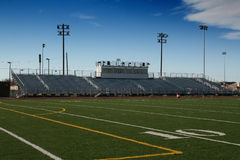Campo di football americano della High School Immagine Stock
