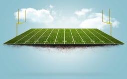 Campo di football americano di galleggiamento Fotografia Stock Libera da Diritti