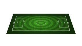 Campo di football americano di prospettiva Fotografia Stock