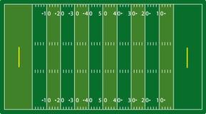 Campo di football americano di Syntetic (NFL) Fotografie Stock Libere da Diritti