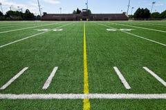 Campo di football americano Immagine Stock Libera da Diritti