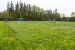 Campo di football americano esterno Immagini Stock Libere da Diritti