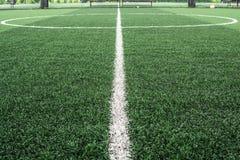 Campo di football americano fatto da erba artificiale Immagini Stock Libere da Diritti