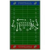 Campo di football americano gameplan royalty illustrazione gratis