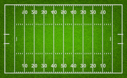 Campo di football americano Illustrazione di vettore Immagini Stock