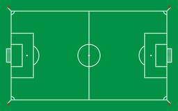 campo di football americano o campo di calcio per il modello ed il fondo, vettore Immagine Stock