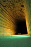 Campo di football americano sotterraneo Fotografia Stock Libera da Diritti