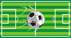 Campo di football americano - sparato sull'obiettivo royalty illustrazione gratis
