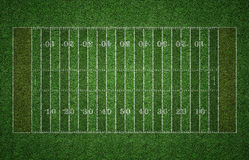 Campo di football americano su erba Immagini Stock Libere da Diritti