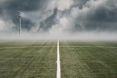 Campo di football americano vuoto Immagini Stock