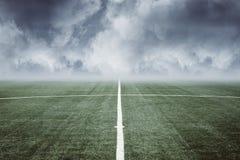 Campo di football americano vuoto Fotografia Stock Libera da Diritti