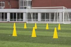 Campo di formazione di calcio Fotografia Stock Libera da Diritti