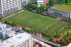 Campo di formazione di calcio Fotografia Stock
