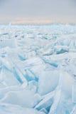 Campo di ghiaccio incrinato Fotografie Stock Libere da Diritti