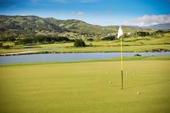 Campo di golf Immagini Stock