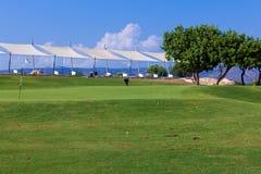 Campo di golf di addestramento per i colpi dell'intervallo Fotografia Stock Libera da Diritti