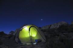 Campo di Horombo sotto le stelle Kilimanjaro Immagini Stock