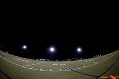 Campo di Lacrosse durante la partita notturna Immagine Stock Libera da Diritti