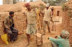 Campo di mattone in Bengala-India ad ovest Fotografia Stock Libera da Diritti