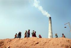 Campo di mattone indiano Fotografia Stock Libera da Diritti