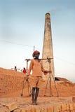 Campo di mattone indiano Fotografie Stock