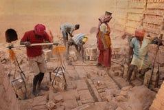 Campo di mattone indiano Fotografia Stock