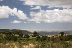 Campo di ngorongoro del paesaggio 018 dell'Africa fotografie stock libere da diritti
