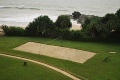 Campo di pallavolo della spiaggia fotografia stock