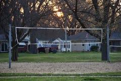Campo di pallavolo nella sosta Fotografia Stock Libera da Diritti