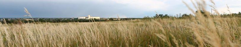 Campo di panarama della città Fotografie Stock