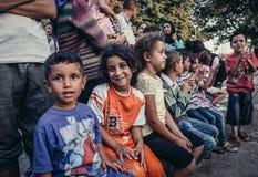 Campo di rifugiati a Belgrado immagini stock