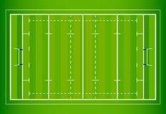 Campo di rugby illustrazione vettoriale
