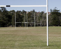 Campo di rugby Fotografie Stock